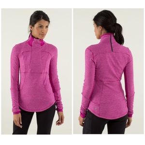 Lululemon base runner 1/2 zip raspberry jacket